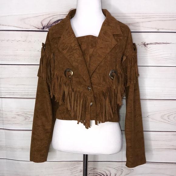 Concho Fringe Southwestern Jacket SZ M